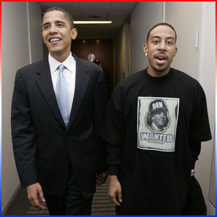 (Image - Barack Obama and Ludacris)