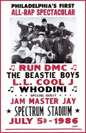 (Image - Run DMC at the Spectrum in '86)